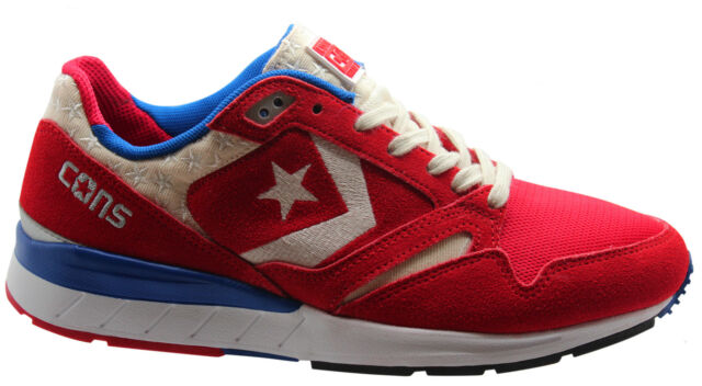 Converse Wave Racer Ox Mens Low Trainers Red Lace 147452C U128
