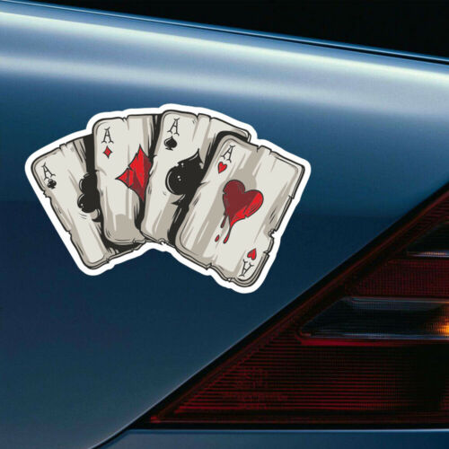 1x Graphics Playing Cards A Vinyl Car Truck Window Laptop Helmet Decal Sticker