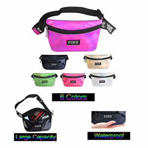 6bf2e6fe678a Details about Iridescent Holographic Fanny Pack Waist Bag Waterproof Women  Men Cute Leather
