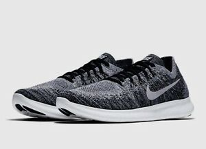 870c26ad1741 Nike Free RN Flyknit 2017 Running Shoe Black White 880843 003 Mens ...