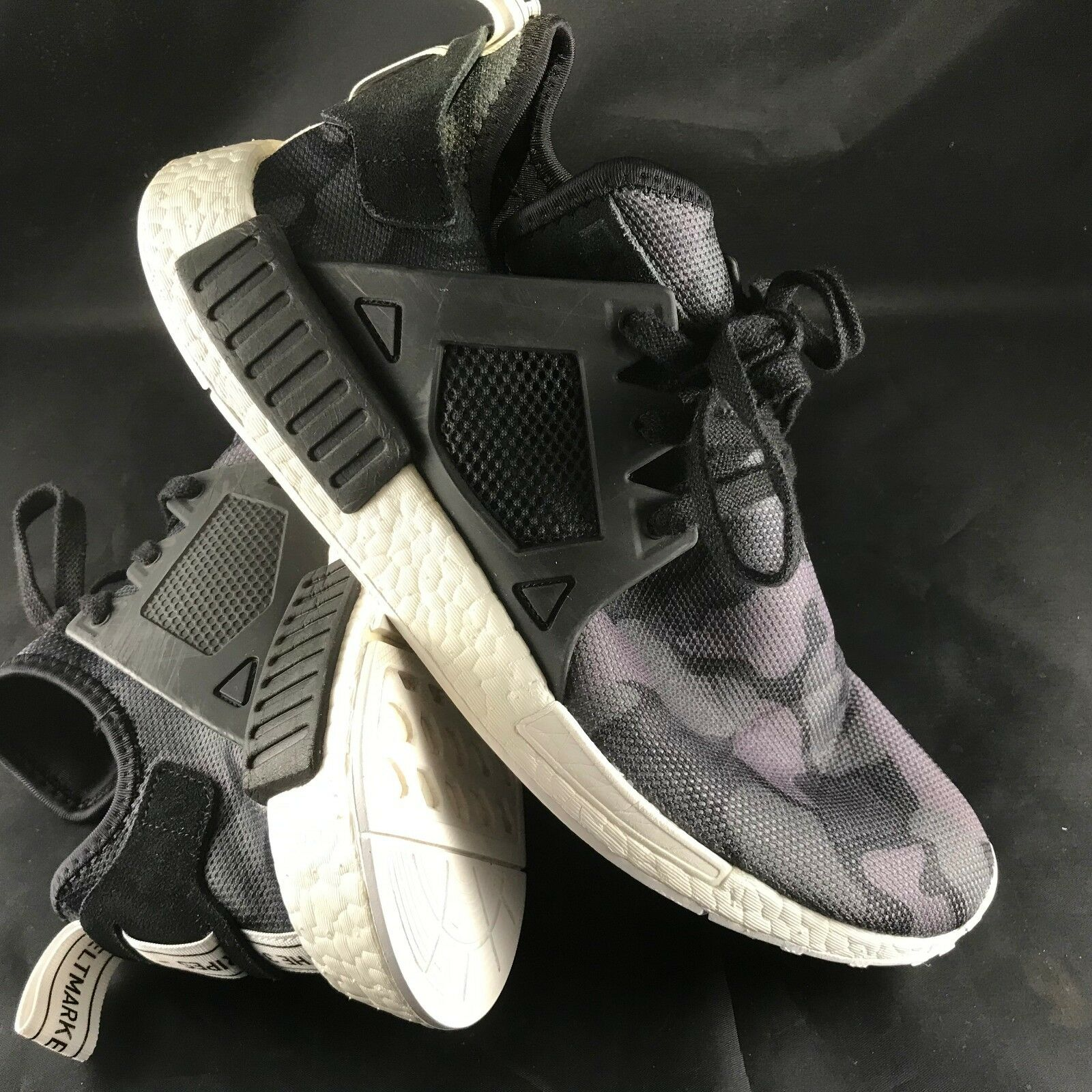Mens Adidas NMD XR1 Runner Sneakers Black Camo BA7231 10.5 US, 44 2 3 EUR