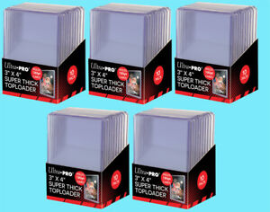 50-Ultra-Pro-3x4-180PT-SUPER-THICK-TOPLOADERS-NEW-Rigid-Sports-Card-Holders-Case