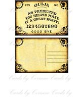 8 Halloween Ouija Party Thank You Note Post Cards