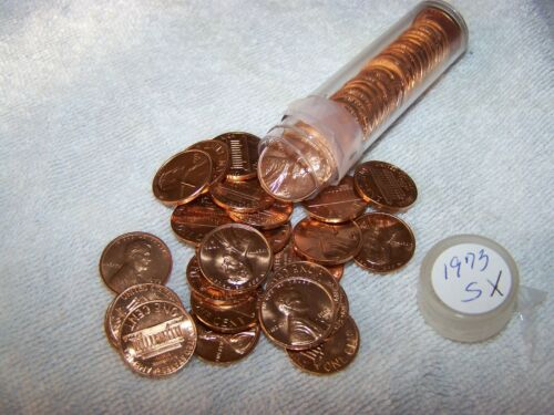 1973-S US Mint Set Uncirculated Lincoln Cents 1 Roll Cents cut from mint sets