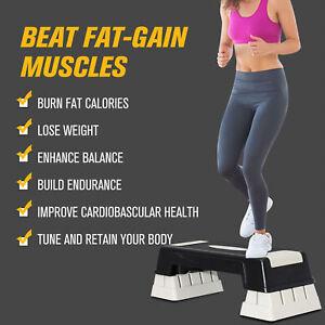 Homcom-3-livello-Stepper-Aerobica-Yoga-PASSO-Board-Fitness-Esercizio-Palestra-Sport