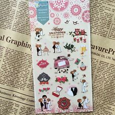 Wedding Stickers love valentine Scrapbook diary Cardmaking art