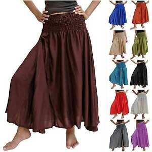 SKIRT-Harem-Boho-Maxi-hippie-trendy-long-women-elastic-variable-waist-chic-40-14