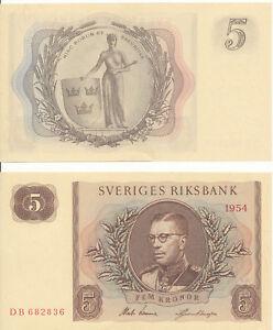 Schweden-Sweden-5-Kronor-1954-aUNC-Pick-42a