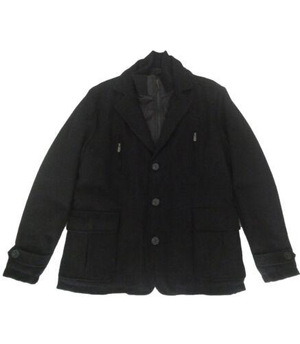 Negro De Hombre Talla Takhiro Abrigo Chaquetas Xl Paño 1vawxX