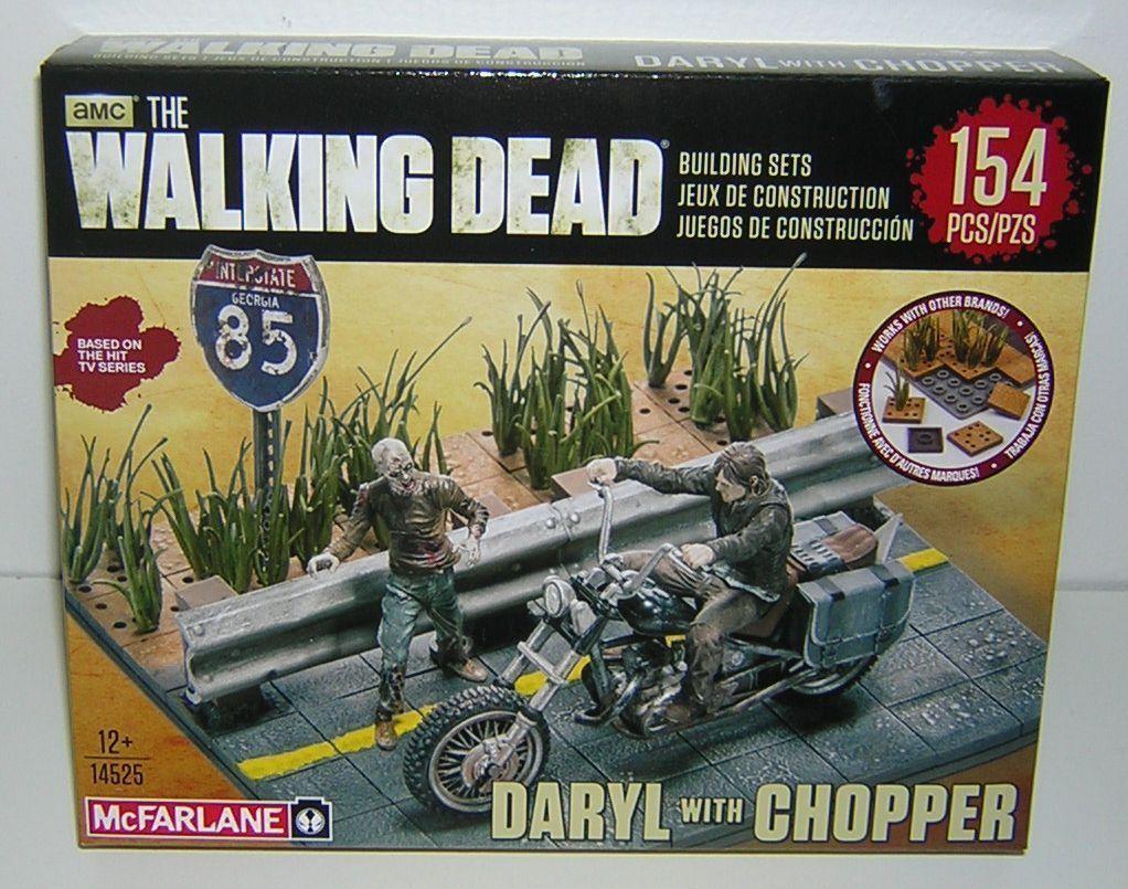 The Walking Dead Daryl with Chopper Building Set McFarlane