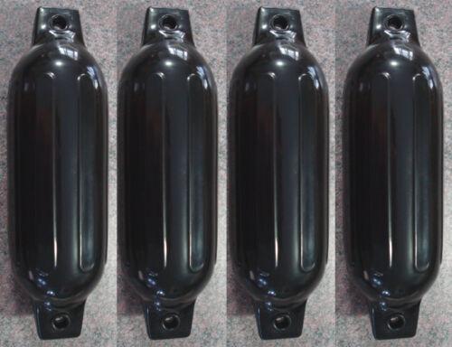 "4 Marine Premium BLACK 5.5/"" x 20/"" BOAT BUMPERS Dock Fender Cushion Protection"