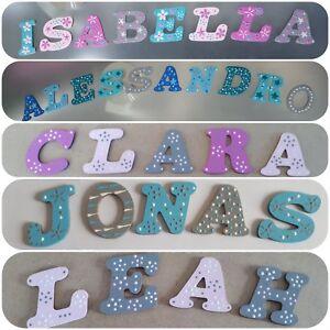 Details Zu Buchstaben Kinder Name Baby Holzbuchstaben Tur Wand Turschild Kinderzimmer 14