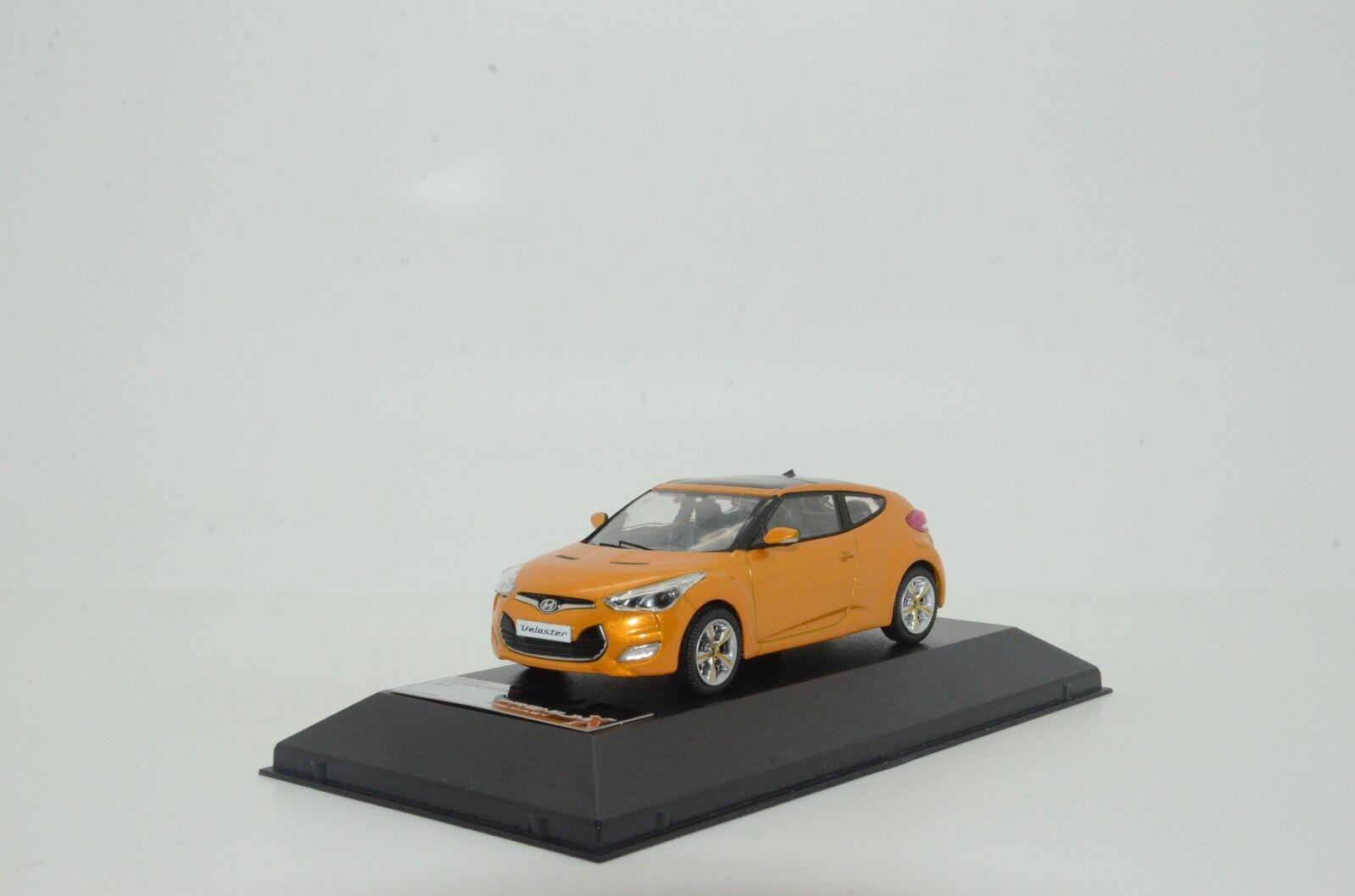 rara Hyundai Veloster 2018 Naranja PremiumX PRD270 1/43