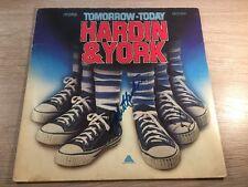 LP Hardin York – Tomorrow, Today Autograph ? GERMAN VINYL