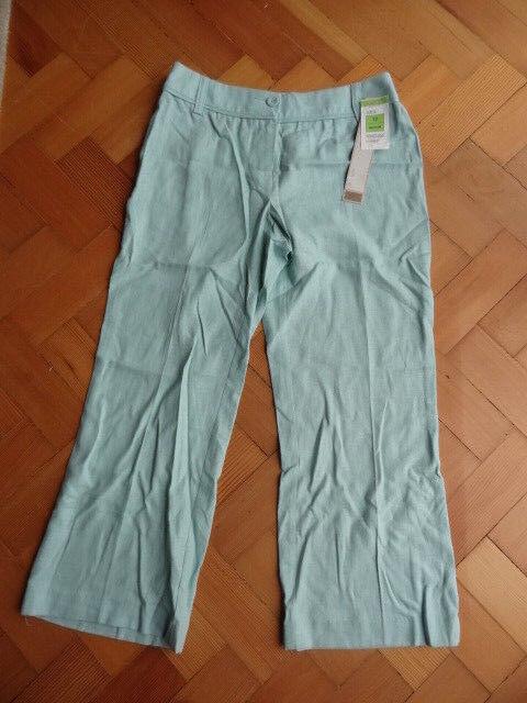 (127oct) Bnwt Taille 12 * M & S * Chic Vert Menthe Lin Pantalon Raccourci Femme/femme