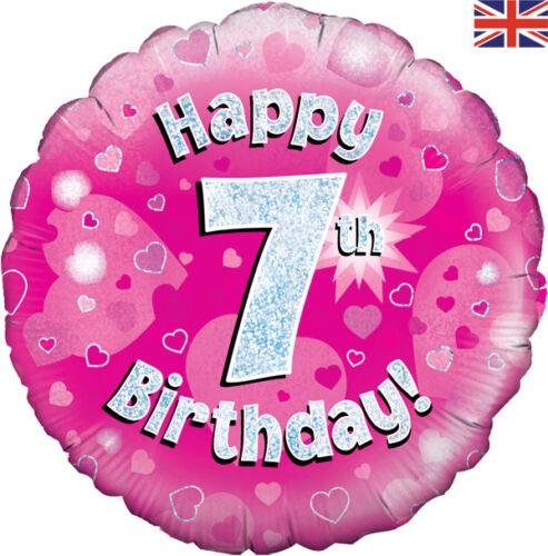 Fiesta De Cumpleaños Chicas Chicos Para Hombre Mujer de papel de aluminio holográfico Globos Bebé Rosa Azul
