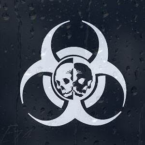 Zombie-Outbreak-Response-Biohazard-Skulls-For-Car-Or-Laptop-Decal-Vinyl-Sticker
