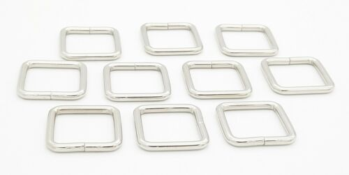 Chrome Square Shape Metal Dee Ring Buckles Leather Hand Bag Craft  20-38mm Size