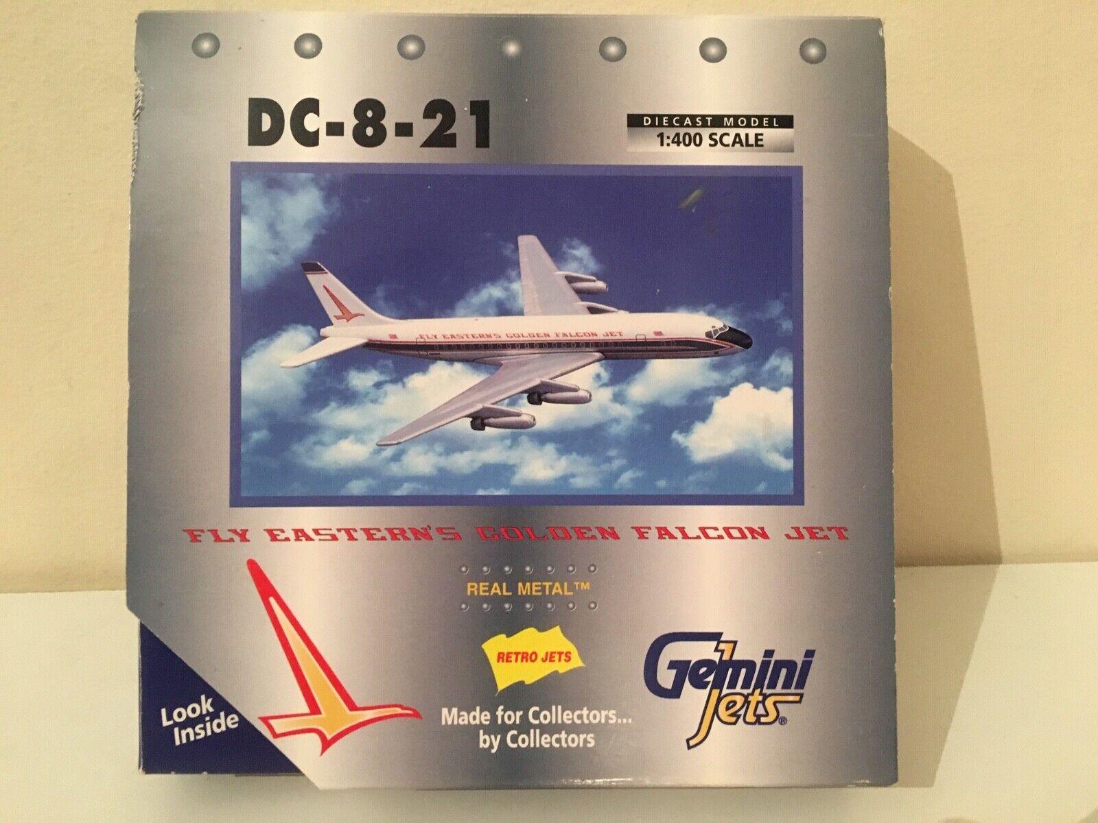1 400 Gemini Jets gjeal 082-Fly oriental de oro Falcon DC-8-21, modelo de avión