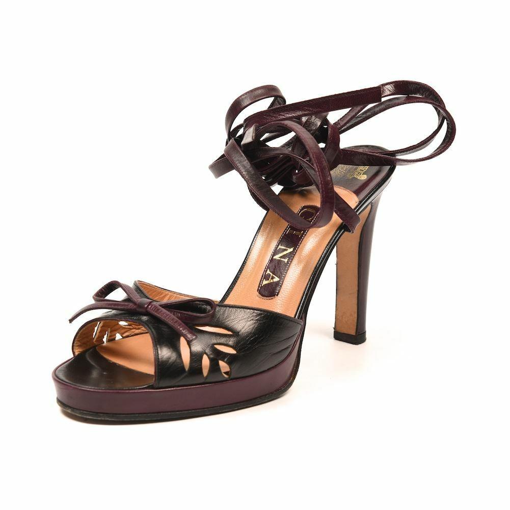 con il prezzo economico per ottenere la migliore marca Gina Sandali Gelso Nero in Pelle Pelle Pelle Cinturino Alla Caviglia Misura PF 244  nuovo stile
