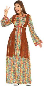 Ladies-Long-Hippie-Hippy-1960s-70s-Bright-Waistcoat-Fancy-Dress-Costume-Outfit