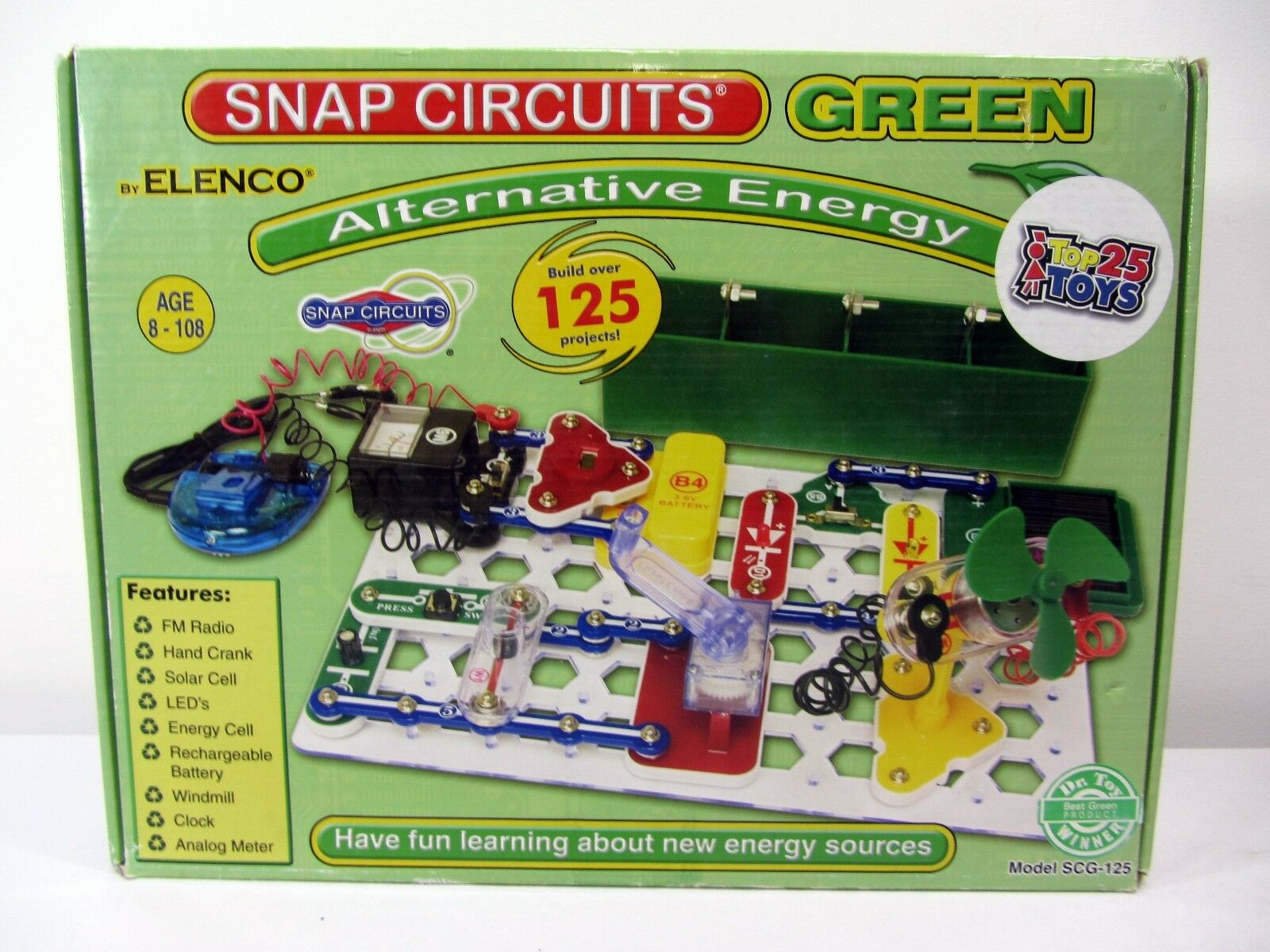 Snap Circuits Green Alternative Energy By Elenco 125 Projects Ebay Sc750r Student Training Program Is Basically An