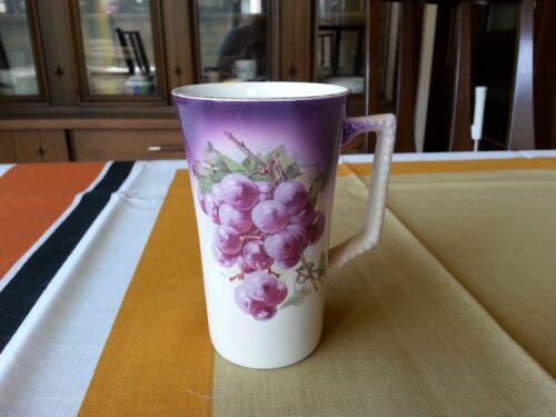 Antique  DRESDEN CHINA POTTERS COOPERATIVE OHIO GRAPE COFFEE MUG CUP TEA  1900