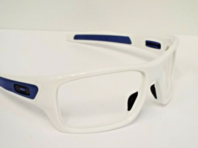 Authentic Oakley Customized OO9263 Turbine Polished White Blue Sunglasses Frame