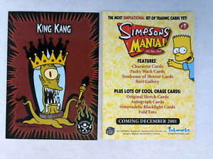 Simpsons Mania Promo Card Pi