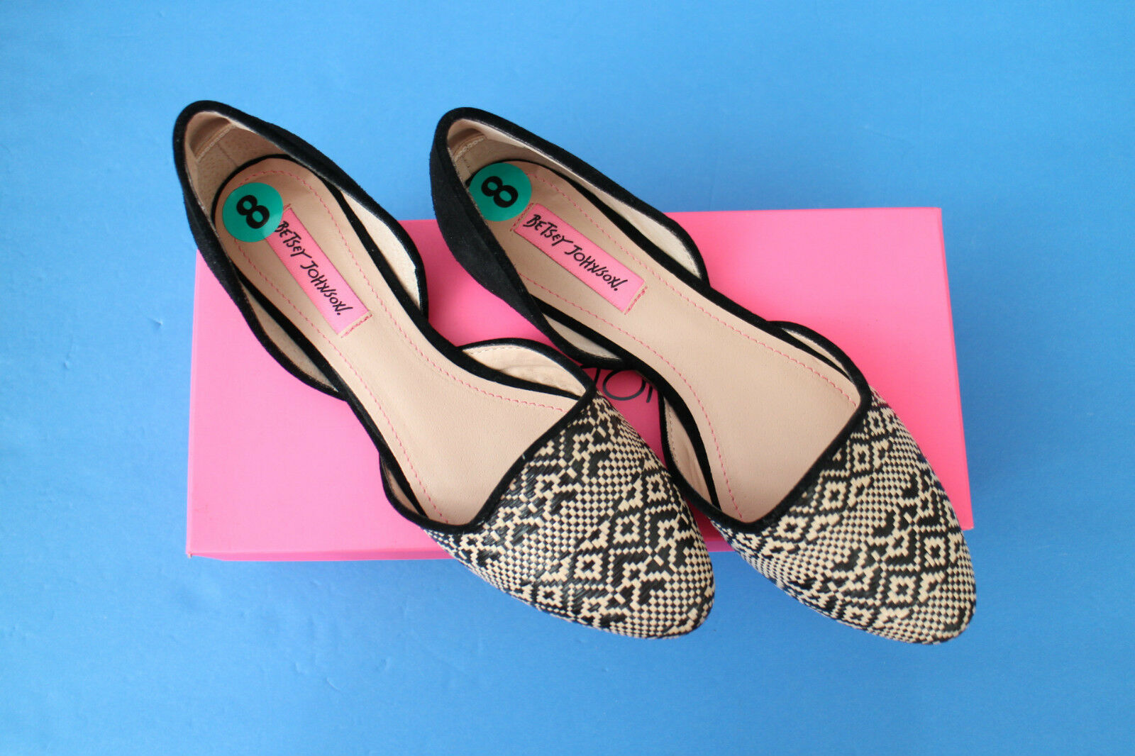 Betsey Johnson  Cocoh   Taille 8 noir multiCouleur chaussures - New in B ox