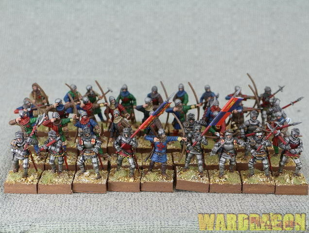 28mm Perry Miniatures WDS painted AO 40 English Army 1415-1429 j13