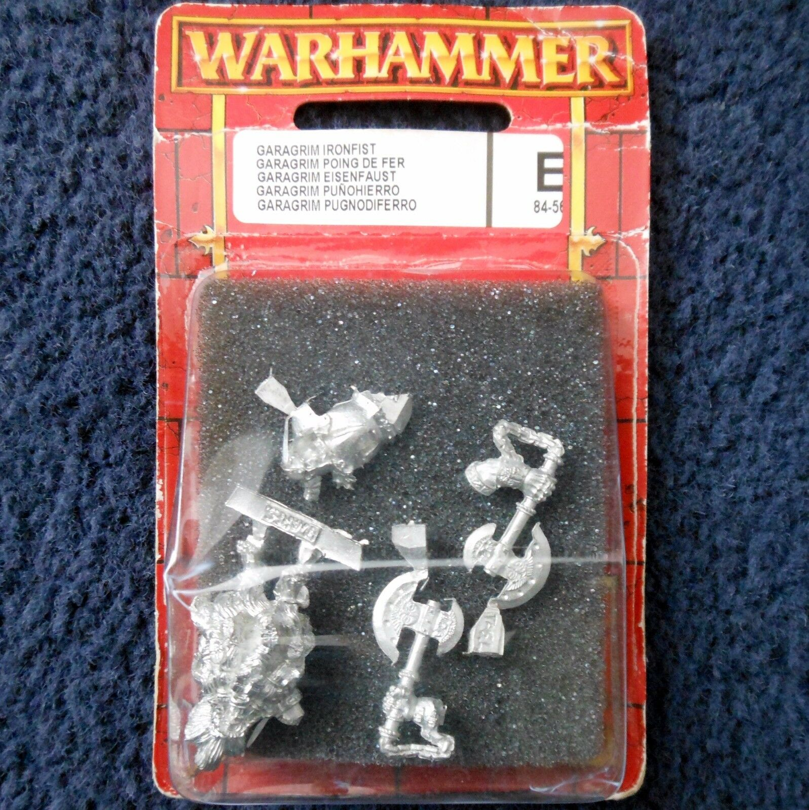 2003 Dwarf Garagrim Ironfist Slayer Prince Games Workshop Warhammer Army D&D MIB
