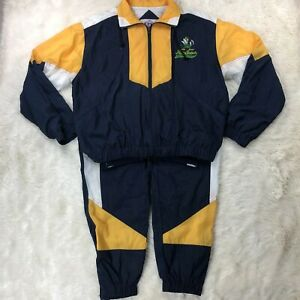Vtg-Notre-Dame-Fighting-Irish-Zip-Front-Windbreaker-Tracksuit-Large-Double-Sided