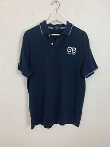 Men-s-Hackett-GB-Short-Sleeve-Polo-Shirt-Top-T-Shirt-Blue-UK-Size-L-Large
