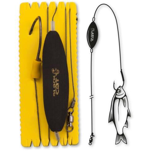 U-Float Rig Einzelhaken XL Gr 8//0 100kg Black Cat Rig Wels angeln Waller