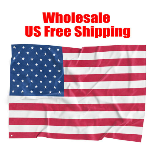 Details about  /Wholesale US FLAGS 3/'X5/' Feet Polyester USA American Stars Stripes United States