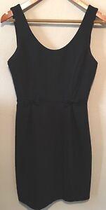 LAUREN-CONRAD-Womens-Black-Sleeveless-Sheath-Bow-Detail-Dress-Size-6