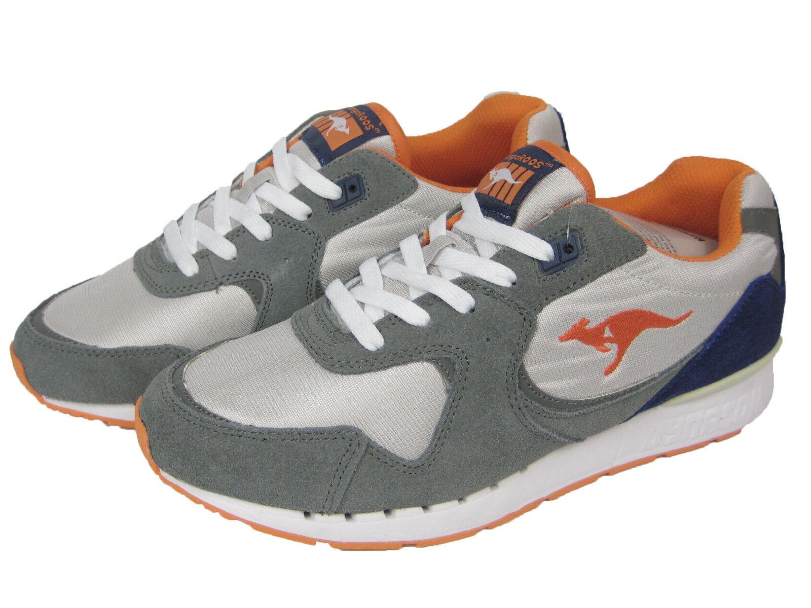 KangaROOS Da Uomo Scarpa Sneaker Scarpe Running Uomo Low coil-r2 Grigio/Arancione Scarpe classiche da uomo