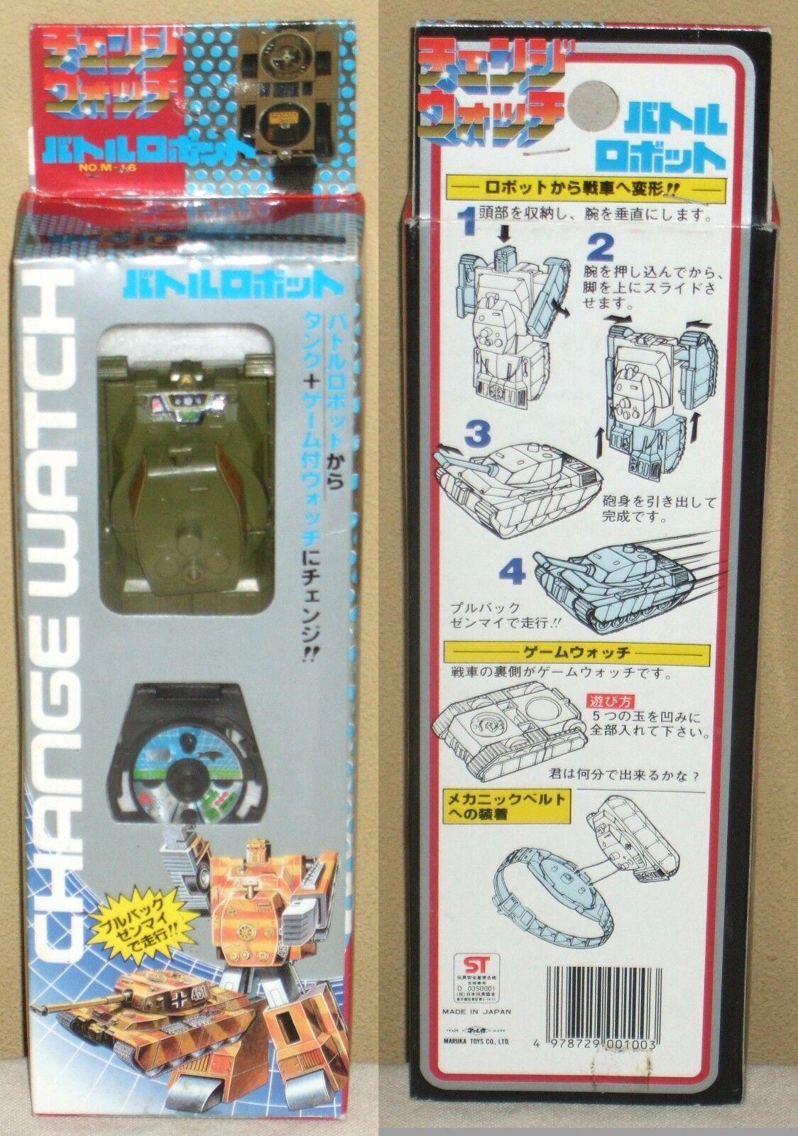 Change Watch Battle Robo Tank 451 Transformers Maruka Takara Unused Very Rare