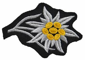 GERMAN-ARMY-EDELWEISS-CAP-BADGE-PATCH-ELITE-INSIGNIA-WW2-REPRO-NEW