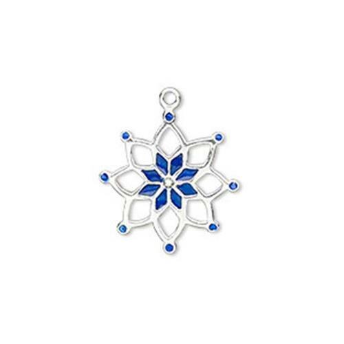 Copo de nieve de plata esterlina 6329 encanto Diamante Corte 18mm PK1 tienda  Reino Unido *
