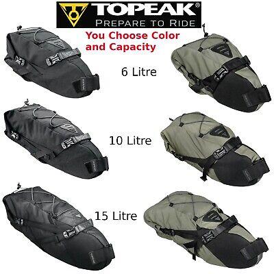 Topeak Backloader Gear Camping Bag Rear Saddle Bike Packing Roll Top 15L