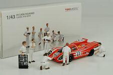 Porsche Classic Figuren Pit Crew Set 6 pcs Diorama Figur Figurines 1:43 TSM