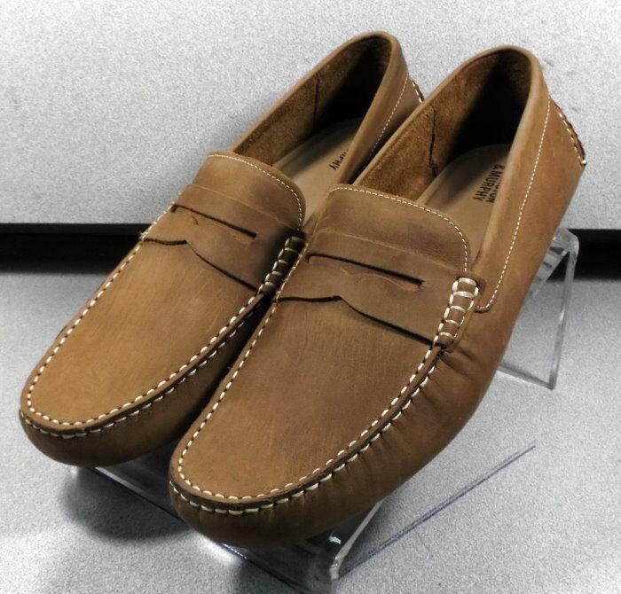 592052 MS50 Men's shoes Size 9.5 M Tan Leather Slip On Johnston & Murphy