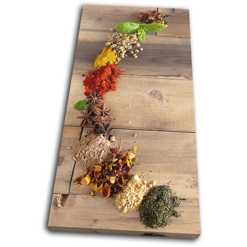 Culinary Culinary Culinary Herbs Spices Indian Food Kitchen SINGLE TELA parete arte foto stampa ce1983