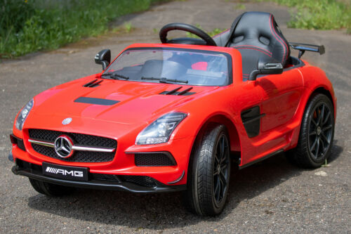 Lizenz Kinder Elektro Auto Mercedes SLS Deluxe AMG 2x 35W 12V 7Ah