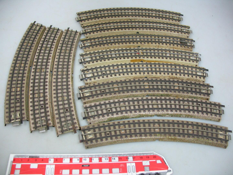 Ai136-1  11x   h0/00 M-binari ripiegata per 3600/800 raggio grande  5200