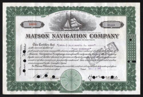 Matson Navigation Company 1948 California