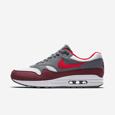 New Nike Men's Air Max 1 Shoes (AH8145 100) WhiteUniv Red Cool Grey Team Red | eBay