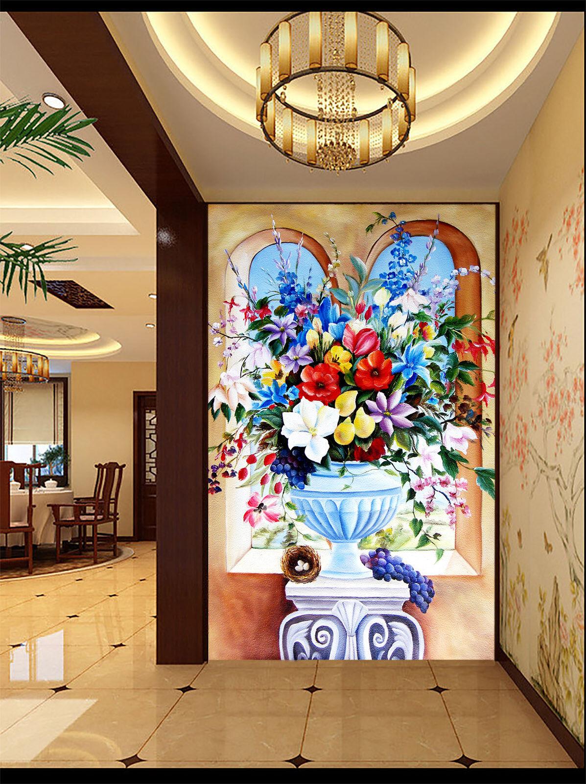 3D Zarte Blüten Blüten Blüten Kunst Töpfe 77 Tapete Wandgemälde Tapete Tapeten Bild Familie DE 5be91f